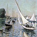 Regatta At Argenteuil by Gustave Caillebotte
