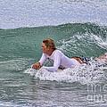 Relaxing In The Surf by Deborah Benoit