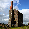 Remains Of Phoenix United Mine Cornwall by James Brunker