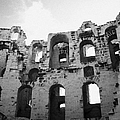 Remains Of Tiered Arches Of The Old Roman Colloseum At El Jem Tunisia by Joe Fox