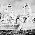 Remains Of Upper Tiers Of The Old Roman Colloseum At El Jem Tunisia by Joe Fox