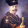 Rembrandt's A Polish Nobleman by Cora Wandel