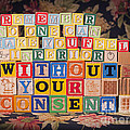 Remember No One Can Make You Feel Inferior Without Your Consent by Art Whitton