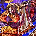 Renaissance Angel With A Harp