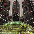 Renaissance Center Detroit Michigan by Nicholas  Grunas
