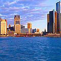Renaissance Center, Detroit, Sunrise by Panoramic Images
