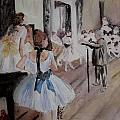Dance Class By Degas by Donna Walsh