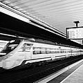 renfe civia train speeding through passeig de gracia underground main line train station Barcelona C by Joe Fox