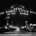 Reno Nevada The Biggest Little City In The World. The Arch Spans Virginia Street Circa 1936 by California Views Archives Mr Pat Hathaway Archives