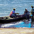 Repairing The Net At Lake Victoria by Anthony Mwangi