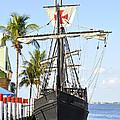 Replica Of The Christopher Columbus Ship Pinta by Sally Rockefeller