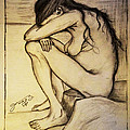 Replica Of Vincent's Drawing - Sorrow by Jose A Gonzalez Jr