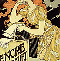 Reproduction Of A Poster Advertising 'marquet Ink' by Eugene Grasset