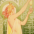 Reproduction Of A Poster Advertising 'robette Absinthe' by Livemont