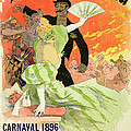Reproduction Of A Poster Advertising The 1896 Carnival At The Theatre De L'opera by Jules Cheret