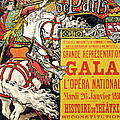Reproduction Of A Poster Advertising The Fetes De Paris by Eugene Grasset