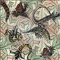 Reptiles - Inspired By Escher - Elena Yakubovich by Elena Yakubovich