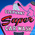 Elephant Super Car Wash Sign Seattle Washington by Tap On Photo