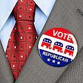 Republican Vote Badge by Joe Belanger