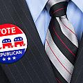 Republican Vote Pin by Joe Belanger