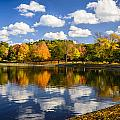Reservoir In Autumn by Robert Mitchell