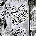 Respect Women Graffiti by Shaun Higson