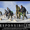 Responsibility Inspirational Quote by Stocktrek Images
