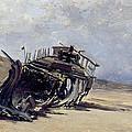 Rest Of A Shipwreck by Carlos de Haes