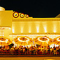 Restaurant Lit Up At Night, Miami by Panoramic Images