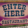 Restaurant Sign Color by Cathy Anderson