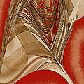 Resting Woman - Portrait In Red by Ben and Raisa Gertsberg