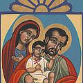 Retablito De La Sagrada Familia 200 by William Hart McNichols