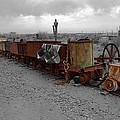 Retired Mining Ore Cars by Richard J Cassato