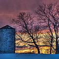 Retired Silo Watching Sunset by Paul Freidlund