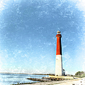 Retro Barnegat Lighthouse Barnegat Light New Jersey by Marianne Campolongo