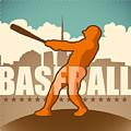 Retro Baseball Poster. Vector by Radoman Durkovic