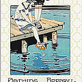 Retro Bathing Apparel Sign by Jean Plout