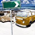 Retro Beach Van by Jorgo Photography - Wall Art Gallery