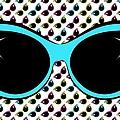 Retro Blue Cat Sunglasses by MM Anderson