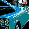 Retro Blue Truck by Nicki Bennett