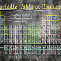 Retro Chalkboard Periodic Table Of Elements by Mark E Tisdale