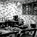 Retro Diner Bw by Karen Wiles