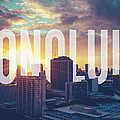 Retro Filtered Honolulu With Text by Mr Doomits