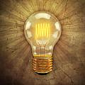 Retro Light Bulb by Scott Norris