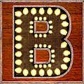 Retro Marquee Lighted Letter B by Mark Tisdale