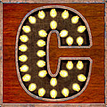 Retro Marquee Lighted Letter C by Mark Tisdale