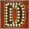 Retro Marquee Lighted Letter D by Mark Tisdale
