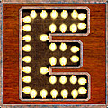 Retro Marquee Lighted Letter E by Mark Tisdale