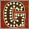 Retro Marquee Lighted Letter G by Mark Tisdale