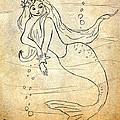 Retro Mermaid by Rosalie Scanlon